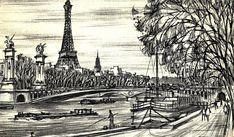 Paris Drawing - La Tour Eiffel by Cuiava Laurentiu Paris Drawing, Tour Eiffel, Photo Art, Digital Art, Louvre, Earth, Art Prints, Wall Art, City