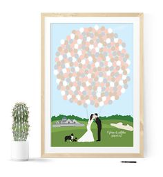 Golf Wedding Guest Book Alternative with par MDBWeddings sur Etsy