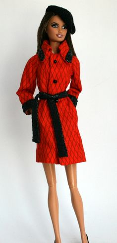 Coat & Hat for Barbie by ChicBarbieDesigns on Etsy, $22.99