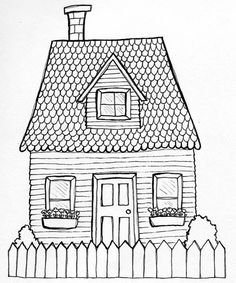 drawing house | Posted by Jacqueline Hudon-Verrelli at 3:27 PM