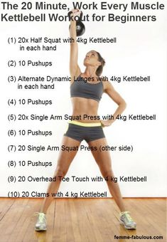 20 minute Kettlebell workout for beginners....if the other kettlebell is too hard switch to this. :)