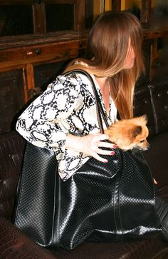 """Giant carry all tote, for traveling, the dog, you name it! This one done in """"no-animal"""" faux leather, can be custom made in real leather too."""