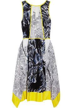 Printed crepe dress by Tibi