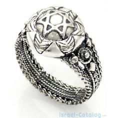 Stunning Sterling Silver Star of David Ring, ornamented with original Yemenite elements.