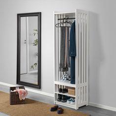 Outdoor Shoe Storage, Shoe Storage Unit, Coat Storage, Bench With Shoe Storage, Storage Racks, Rack Shelf, Ikea Clothing Storage, Coat Rack Ikea, Coat Rail