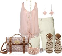 """Pastel--Pink"" by jayhawkmommy ❤ liked on Polyvore"