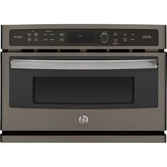 "GE - Profile 27"" Built-In Single Electric Convection Wall Oven - Slate (Grey)"