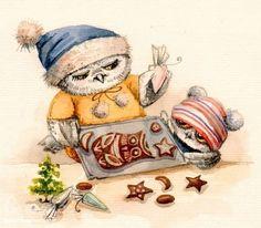 Картинки по запросу совушки художницы инги пальцер