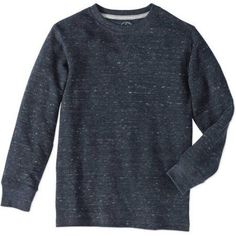 Faded Glory Boys' Long Sleeve Thermal Tee, Blue