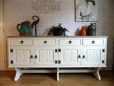 Amazing Jaycee Old Charm Sideboard Painted in Farrow & Ball Lime White.