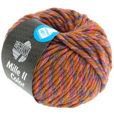 MILLE II color 804-brown/red/lilac/grey mix