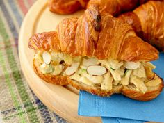 Chutney Chicken Salad Croissant Sandwiches