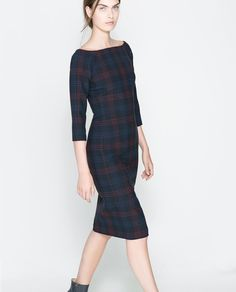 Image 2 of FITTED CHECKED DRESS from Zara
