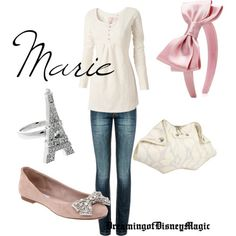 Another wonderful Disney-inspired outfit, the Aristocats' Marie!