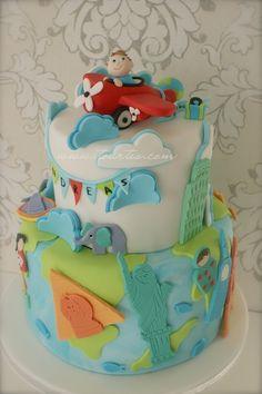 All Around The World on Cake Central 1st Birthday Cakes, Birthday Ideas, Birthday Parties, Watercolor Cake Tutorial, Travel Cake, Travel Party, Around The World Theme, Cakes For Boys, Cake Kids