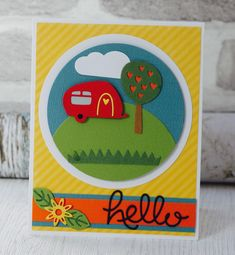 My Life Handmade Die Sets camping greeting card Cute Cards, Diy Cards, Kanban Cards, Camping Cards, Crafts For 2 Year Olds, Car Card, Craft Museum, Arts And Crafts, Paper Crafts