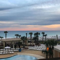 Poolside cabanas and palm trees in paradise. Visit Pensacola Beach to discover what vacation dreams are made of. 🌴   📷: @amajwis Pensacola Beach Hotels, Dream Vacations, Palm Trees, Paradise, Around The Worlds, Dreams, In This Moment, Sunset, Outdoor