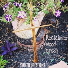 Reclaimed wood cross by SweetD Creations