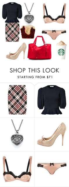 """Untitled #2715"" by crazymoustik ❤ liked on Polyvore featuring Alexander McQueen, Valentino, Agent Provocateur and Haiku"