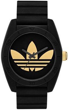 adidas Originals 'Santiago' Polyurethane Strap Watch, 42mm