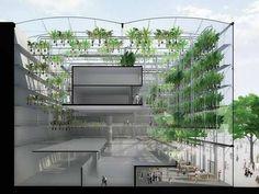 Projeto de fazenda vertical Urbanana, da firma SOA, em Paris