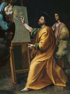 (Raphael) Raffaello Santi - St. Luke Painting the Virgin