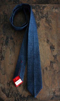 Handcrafted Denim tie