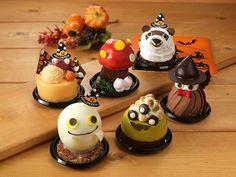 Halloween Desserts, Halloween Cakes, Cute Food, Good Food, Small Desserts, Japanese Sweets, Food Decoration, Dessert Drinks, Aesthetic Food