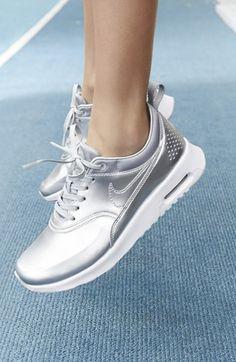 9905fbf3f223  Air Max Thea  Sneaker (Women). Silver ShoesMetallic ShoesPink ShoesNike ...