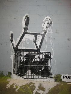 Encore une prisonnière de la société de consommation... / Consumerism. / By Banksy.