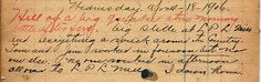 San Francisco Earthquake, journal entry, April 18, 1906 by aroid, via Flickr