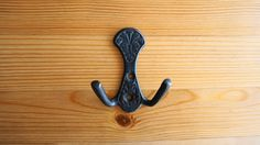 Rustic Single Squid Wall Hooks Solid Brass Hangers Embossed