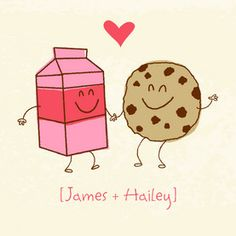 Milk Cookies Love Love Card