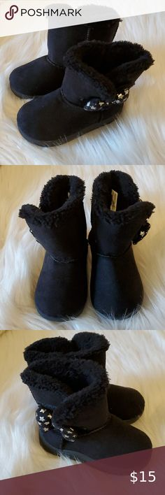 Garanimals baby girl black boots size 4