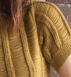 amazing sweater idea = double yarn up and carry one strand in front for a ways while knitting stockinette then knit both together for 4-5 st...