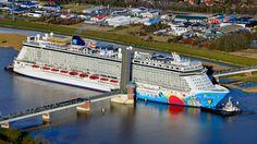 Norwegian Breakaway Approaches | Popular Cruising (Image Copyright © Norwegian Cruise Line)