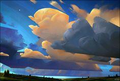 Artstation - clouds study, liam smyth art - art ref in 2019 Landscape Concept, Landscape Art, Landscape Paintings, Landscapes, Environment Concept Art, Environment Design, Art And Illustration, Affinity Designer, Cyberpunk 2077