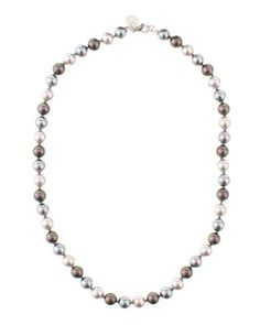 Round Multicolor Pearl Necklace by Majorica at Last Call by Neiman Marcus.  Hard to say.  but I may prefer black pearls to white.  except in the case of baroque pearls.  so neat and lumpy looking!
