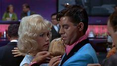 Stella Stevens  Jerry Lewis (1963) Nutty Professor. Love the jacket  look.  Very cool (minus cigarette).