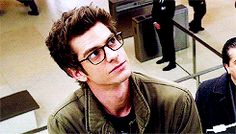 Andrew Garfield, Spiderman. glasses, gif, adorkable