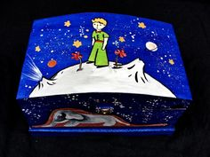 "Hand-painted jewelry box . Cutii pentru bijuterii ""Micul Print"""