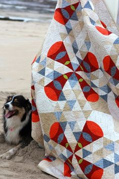 Desert Sands Pattern - @quiltjane from 'Desert to Sea, 10 quilts from Australian Designers'  #Applique #quilting #patchwork #pyramidquilts #australianshepherds #boatharbour #Cronulla #SutherlandShire
