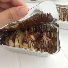 Bolo de ninho com nutella na marmitinha