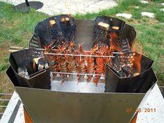 un barbecue vertical (celui-là est recommandé par le Professeur Joyeux)