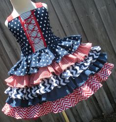 Made to Order Custom Boutique 4th of July Dress America Patriotic Girl 2 3 4 5 6 7 8