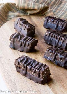 Low Carb Chocolate Fudge Protein Bars (Nut Free) Atkins, THM, Keto, LCHF