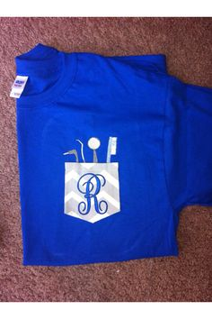 Personalized monogrammed Dental Pocket Shirt by SLMonograms