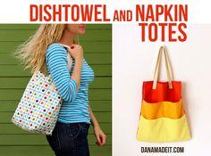 Celebrate MOM and TUTORIAL: Dishtowel and Napkin Totes | MADE