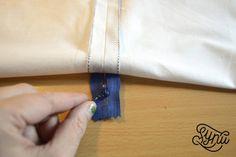 Hvordan du syer en usynlig lynlås Tassel Necklace, Arrow Necklace, Rebecca Minkoff Mac, Sewing Projects, Womens Fashion, Jewelry, Bra, Creative, Jewellery Making