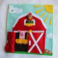 Custom Quiet Book Page Farm Single Page to por RoseInBloomCreations